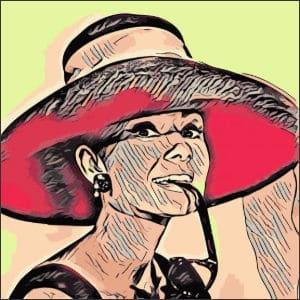 Kunst-Effekt angewandt auf Foto von Audrey Hepburn
