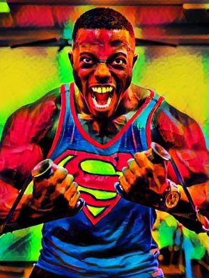 Bodybuilder Superman (Effektbild)