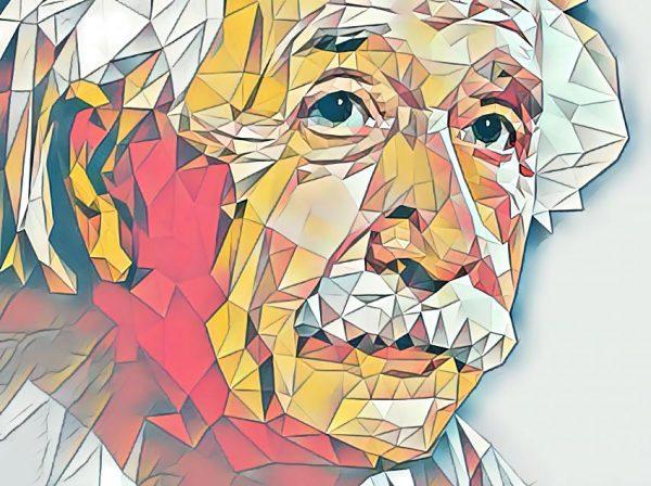 Albert Einstein (Effektbild)