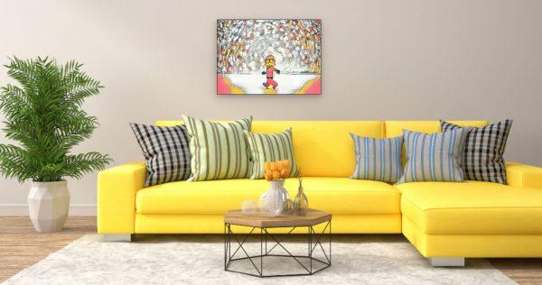 Lego Star Wars (Effektbild) über Wohnzimmer Couch