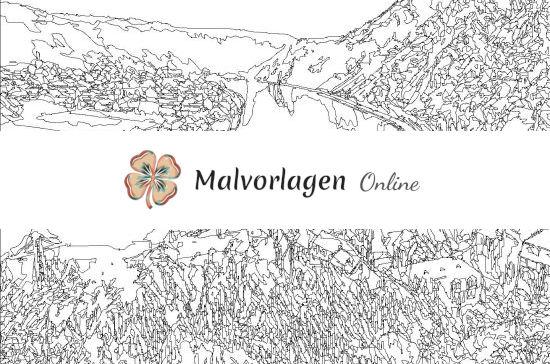 Mosel-Landschaft (Effektbild) Konturen Vorschau (mit Wasserzeichen)