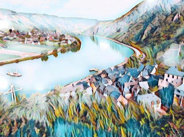 Mosel Landschaft mit dezentem Kunsteffekt