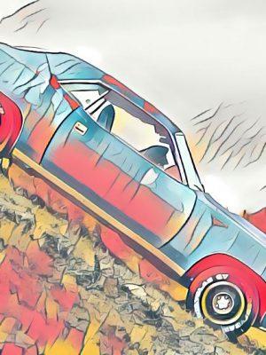 Mustang am Abgrund (Effektbild)