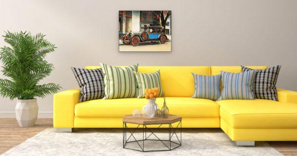 Oldie (Effektbild) über Wohnzimmer Couch