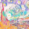 Vincent van Gogh Sternennacht (Effektbild)